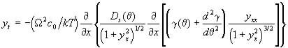 surface profile equation